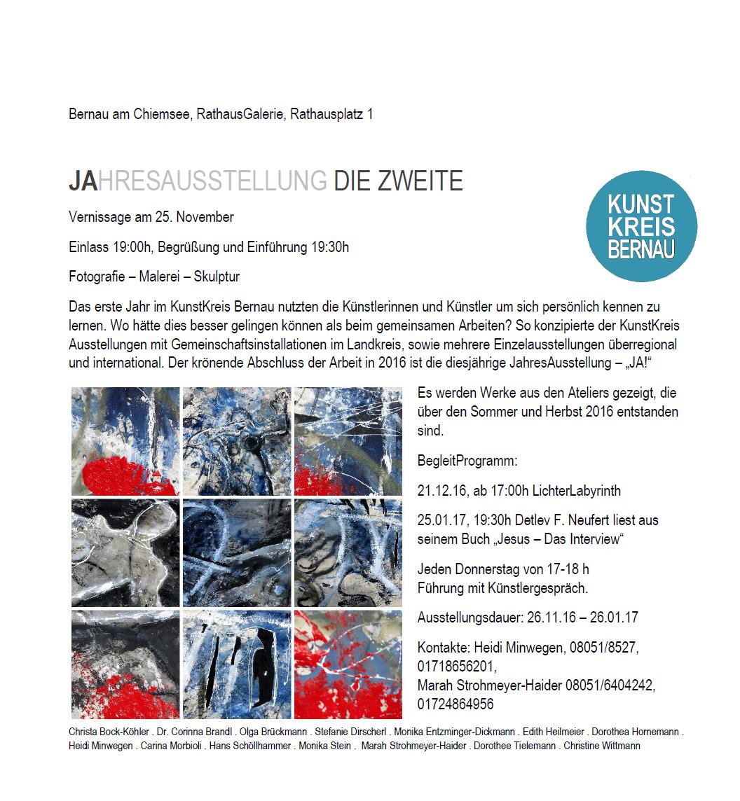 JA _ DIE ZWEITE_KunstKreis Bernau_Anzeige